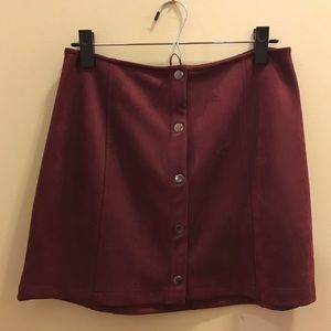 Cranberry Suede skirt